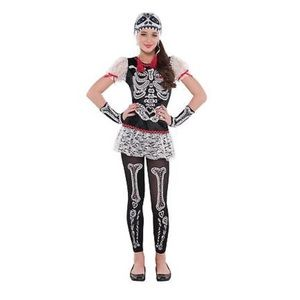 BNWT Girls Sassy Skeleton Halloween Costume
